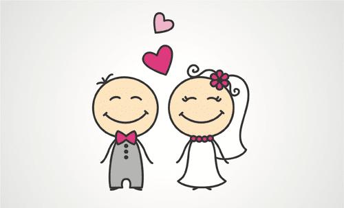 caricatura de boda