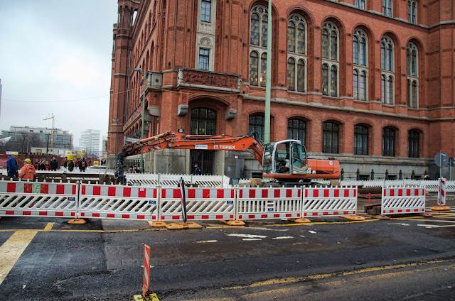 Baustelle Spandauer Straße / Rathausstraße, 10178 Berlin, 10.12.2013