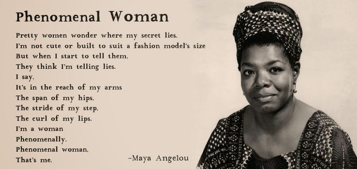 essay about phenomenal woman Here is an analysis of maya angelou's phenomenal woman, which defies the stereotypes women are often faced with today the poem appeared in angelou's thir.