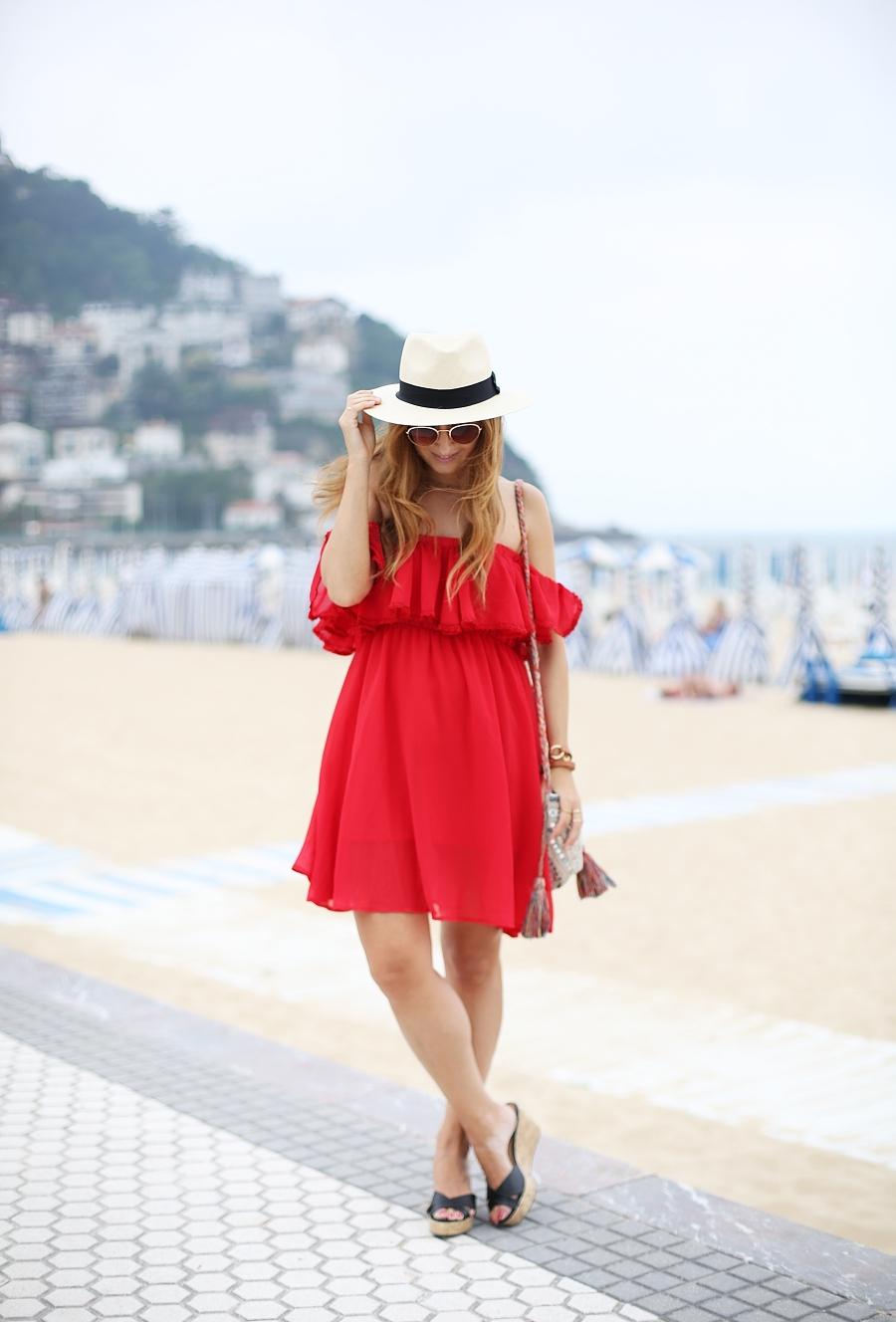 Vestido rojo de verano