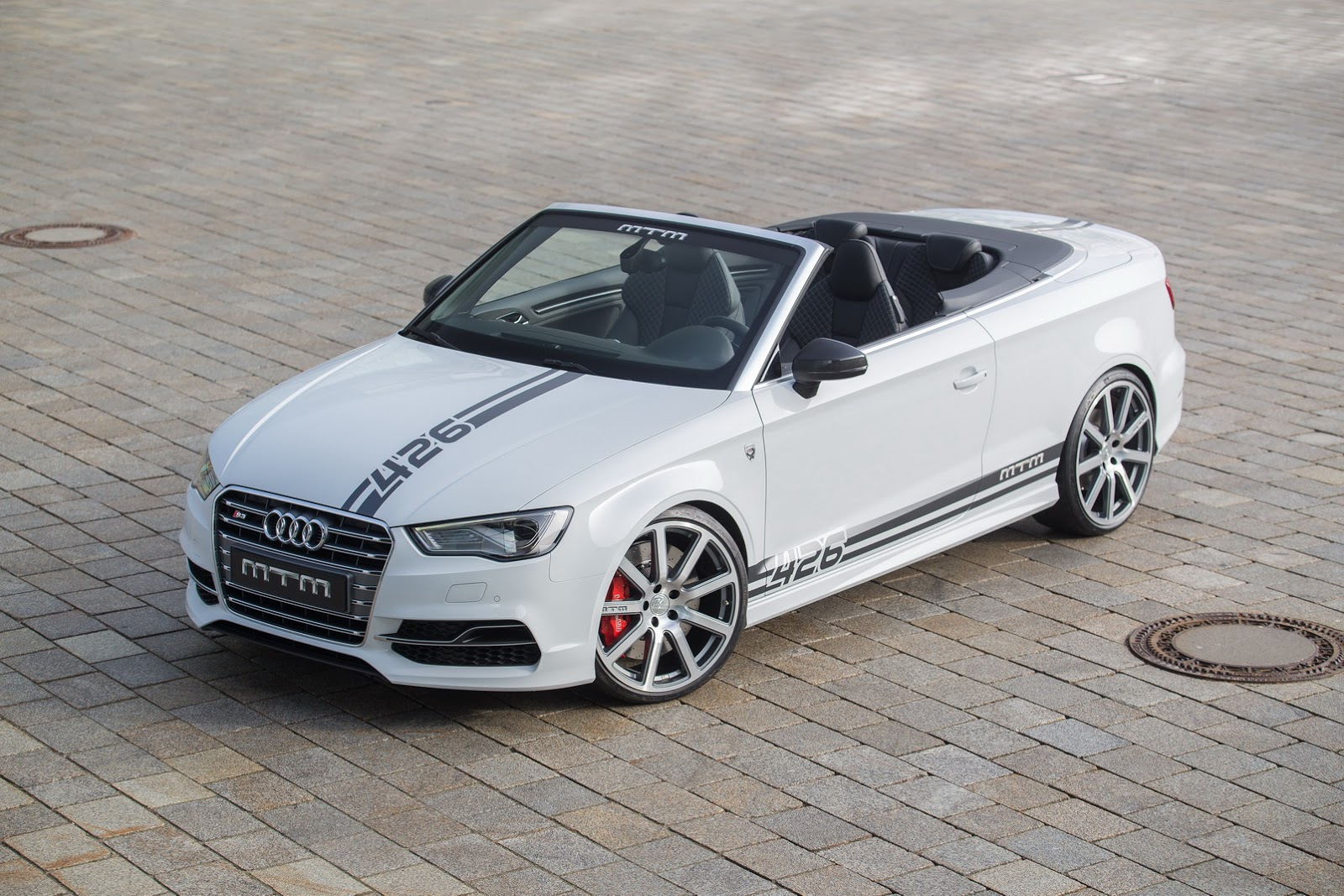 geneva show bound mtm audi s3 cabrio has 426ps and costs nearly 100k. Black Bedroom Furniture Sets. Home Design Ideas