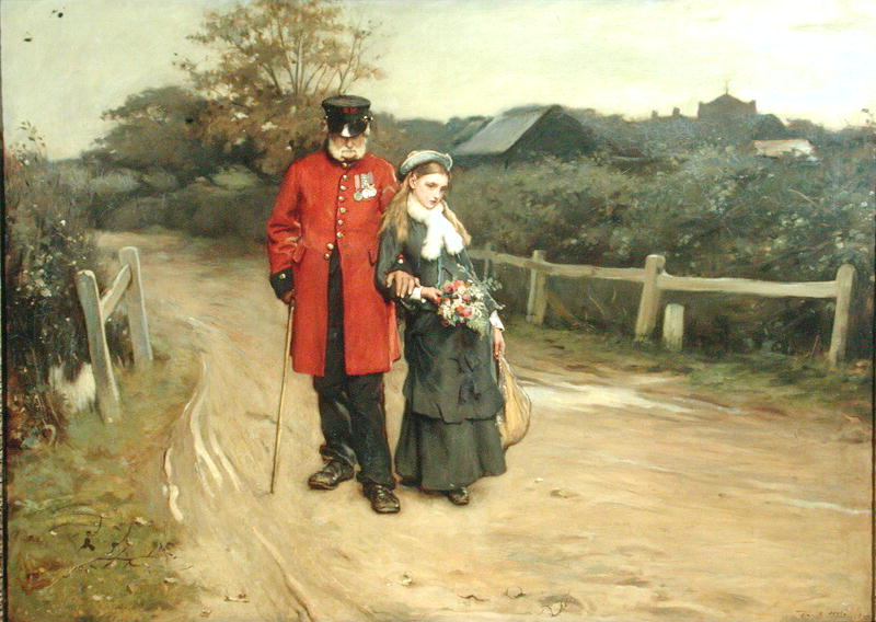 British paintings frank holl going home 1877 for Home holl