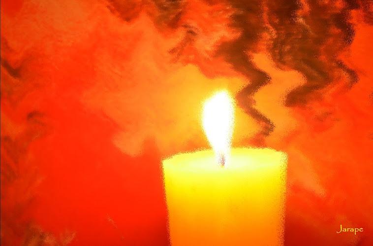 Luz sobre naranja