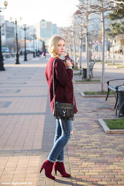 Marsala coat by Mango