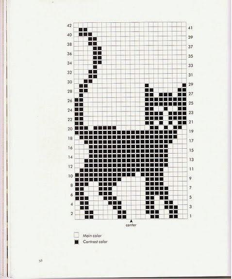 Схемы жаккардовых узоров для вязания спицами для детей