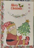 Angela has paper pieced the digital stamp and created a great card for Christmas