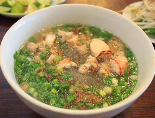 Crab Meat with Vermicelli Soup (Miến Cua)
