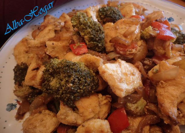 pollo con brecol, brocoli alba hogar