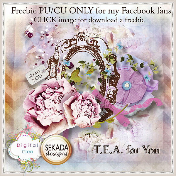 TEA for you Creative Box - Build a Collection  * FREEBIE PU/CU * FREEBIE at Digital-Crea.fr