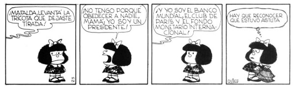Mafalda jugando al gobierno 2