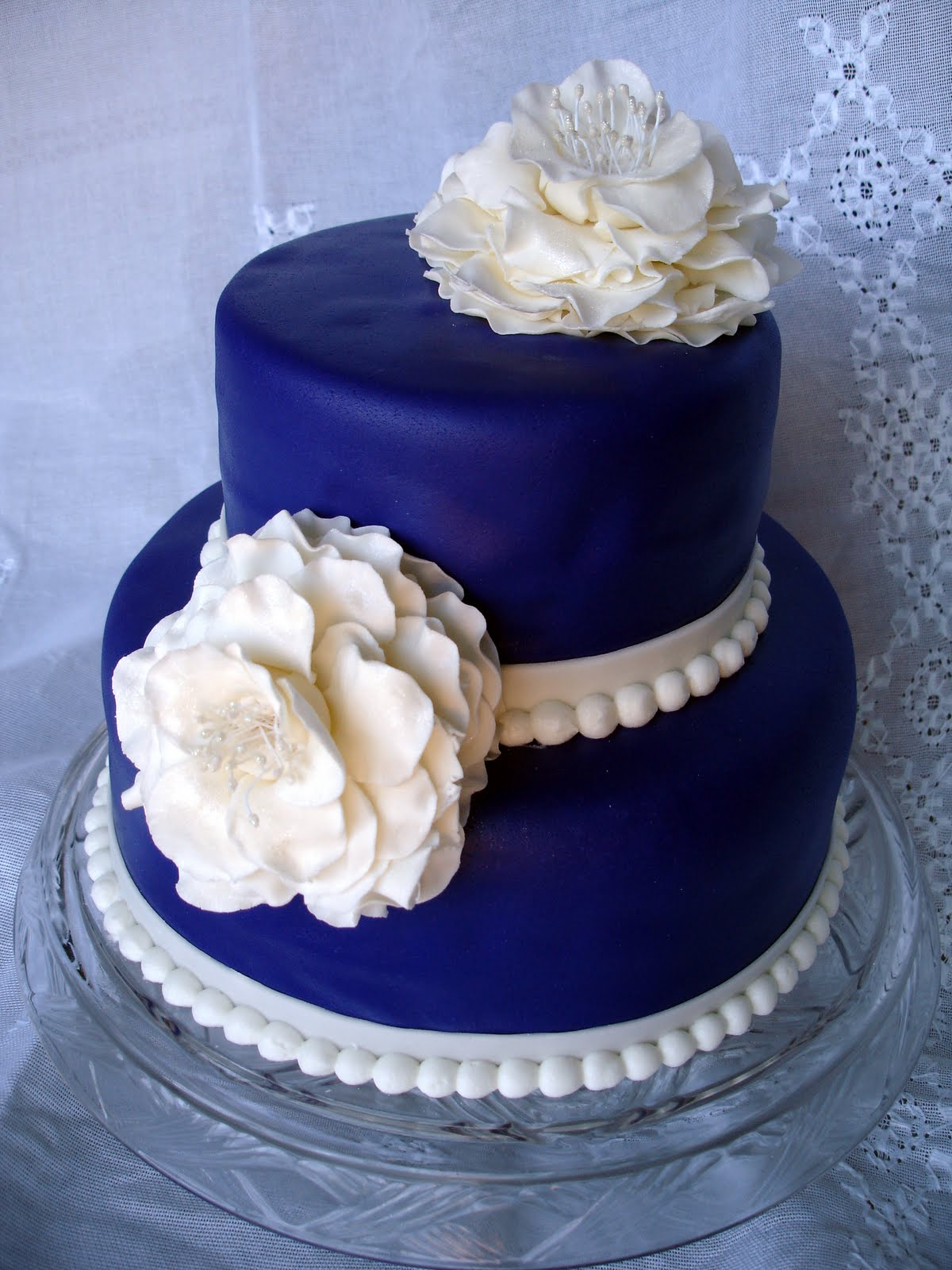 Cake Flair Purple Cake With White Flowers