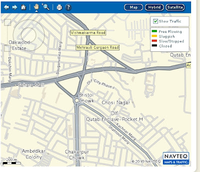 NAVTEQ Maps with real-time traffic updates in India now available