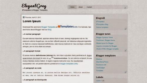 ElegantGrey - Free Blogger Template
