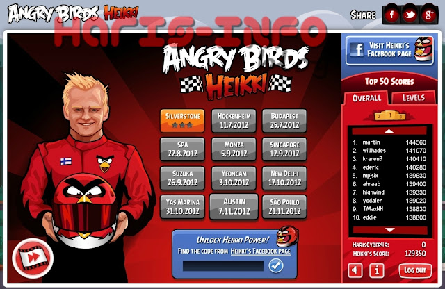 Angry Birds Heikki / Angry Birds Formula 1 Play Online Free