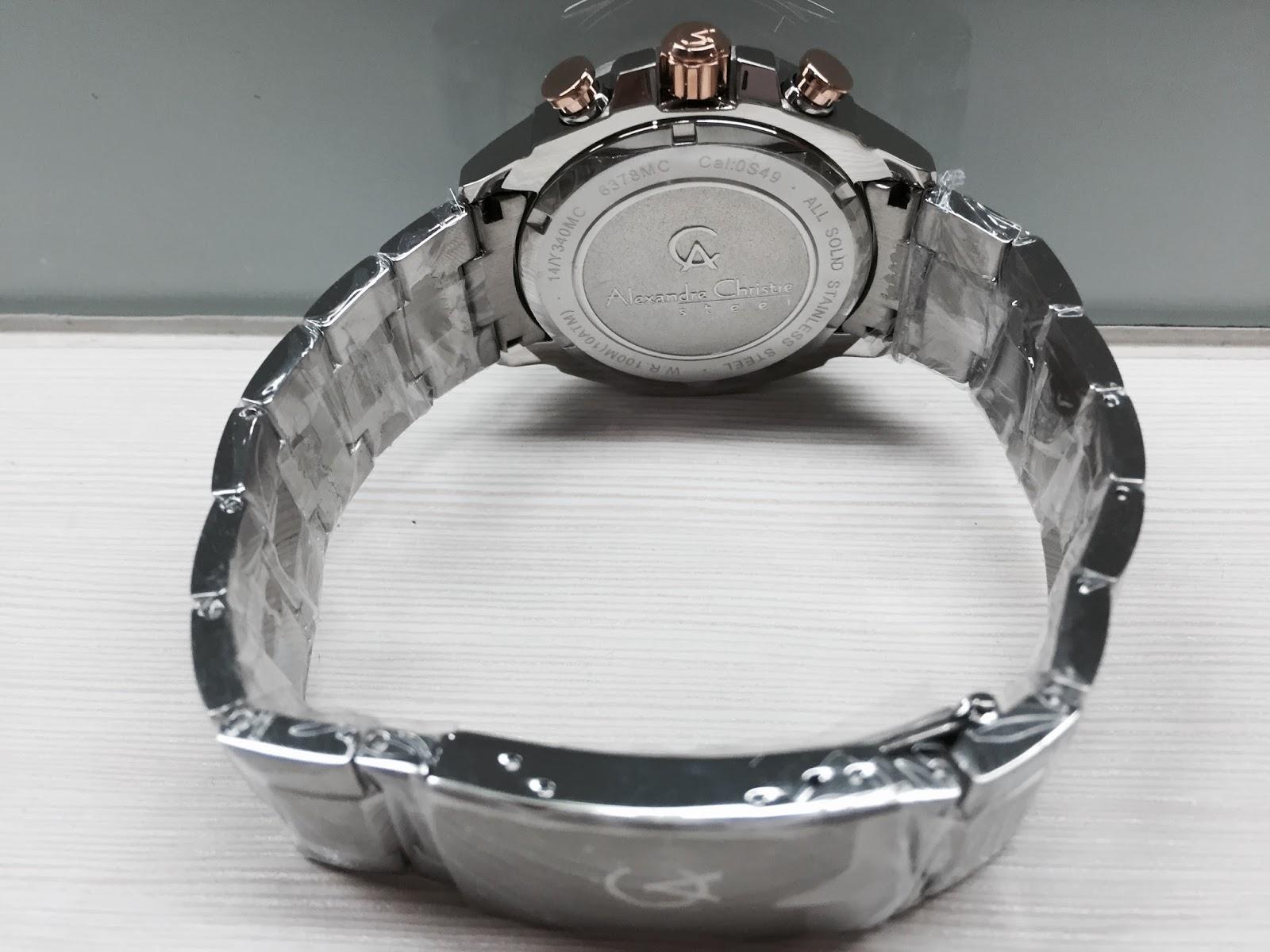 Jual Arloji Jam Tangan Baru Branded Original For Sale Alexandra Christie Watch Tampak Belakang