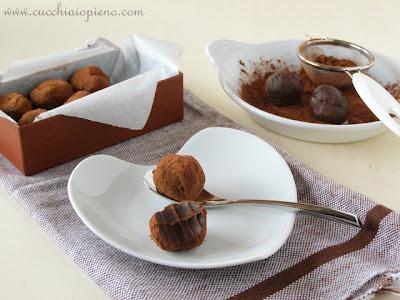 trufas de chocolate e rum