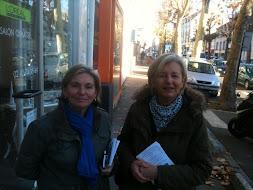 commerçants route de Paris avec Sophie Jozan