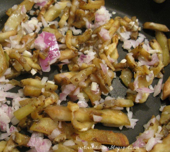 sauteed eggplant onions garlic