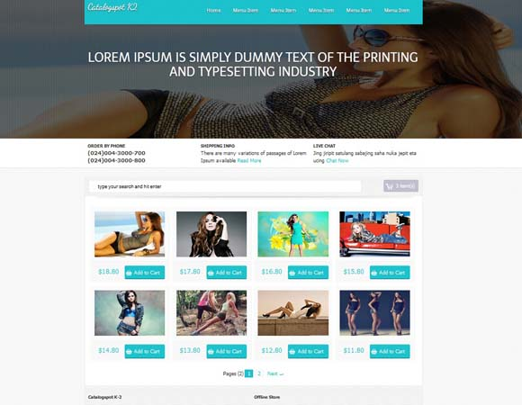 Business blogger templates page 3 catalogspot k2 e commerce blogger template wajeb Images