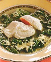 Sopa de Espinacas con Huevo