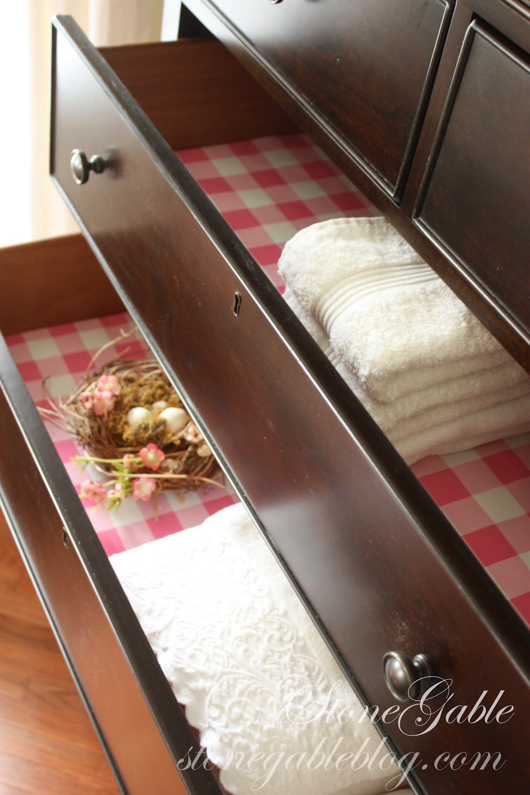 Making Scented Drawer Liner