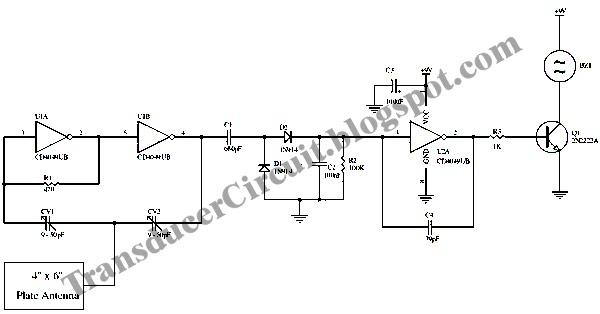 proximity alarm circuit