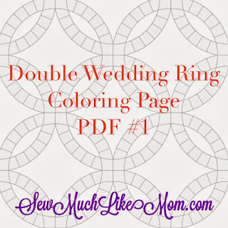 Sew much like mom double wedding ring quilt along lets talk fabric cristy maxwellsz