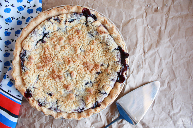 Sweet Lavender Bake Shoppe: gluten free blueberry crumb pie + our 5th ...