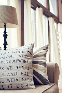 Song lyric decorative pillow