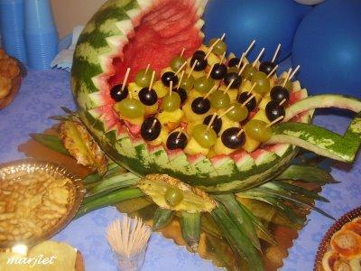 La cuoca di casa la tavola centrotavola di frutta - Centro tavola con frutta ...