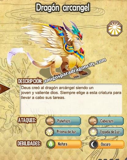 imagen del dragon arcangel y sus caracteristicas