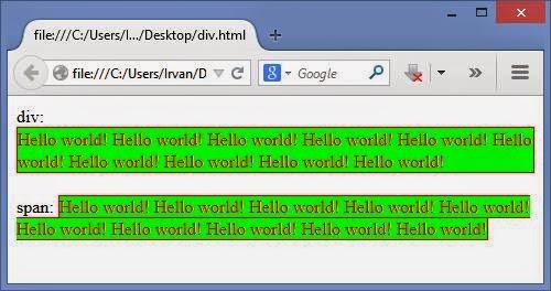 Perbedaan tag html dan komputoo tech - Div tag in html ...