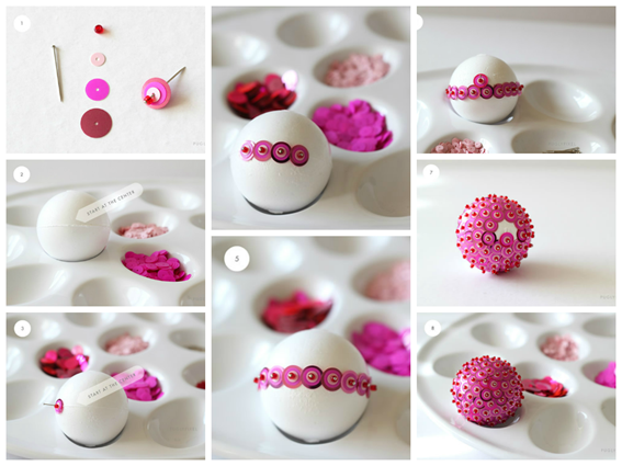 Como fazer bolas de natal diferentes com lantejoula passo a passo