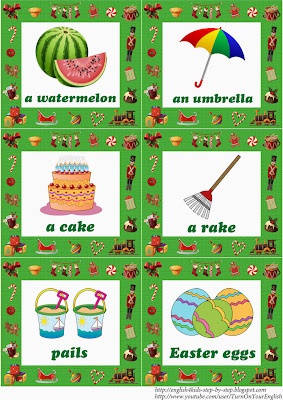 christmas esl flashcards