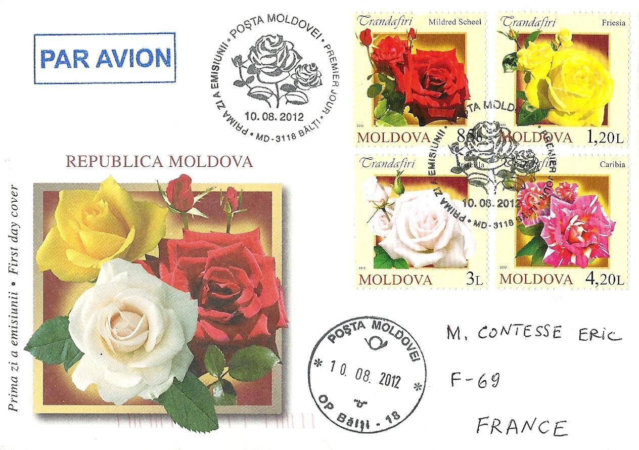 blog timbr de ma philat lie s rie roses en moldavie pli 1er jour. Black Bedroom Furniture Sets. Home Design Ideas