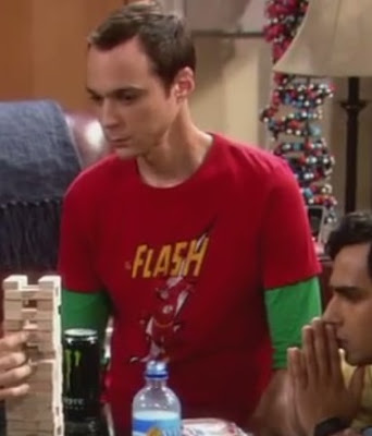 Sheldon's red flash run t shirt
