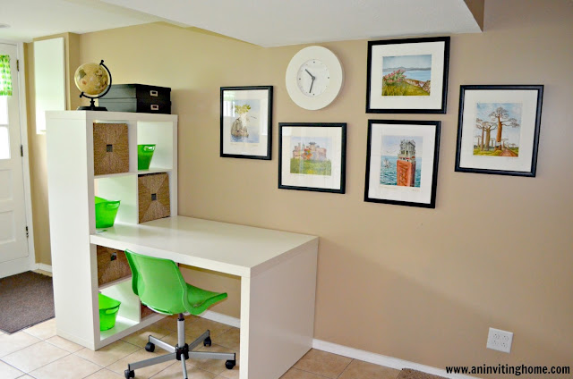 an ikea expedit desk in white
