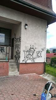 Odstranění graffity - před