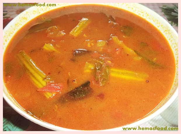 Mulakkada Charu - Drumstick Stew
