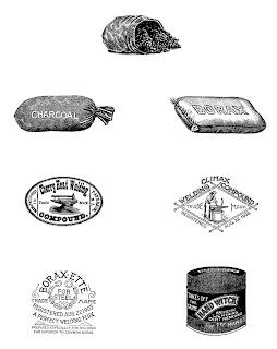 downloadable vintage collage sheet