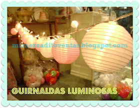 GUIRNALDAS DE FAROLITOS CON LUZ CLIDA - ARAAS - LAMPARAS - VELADORES - APLIQUES