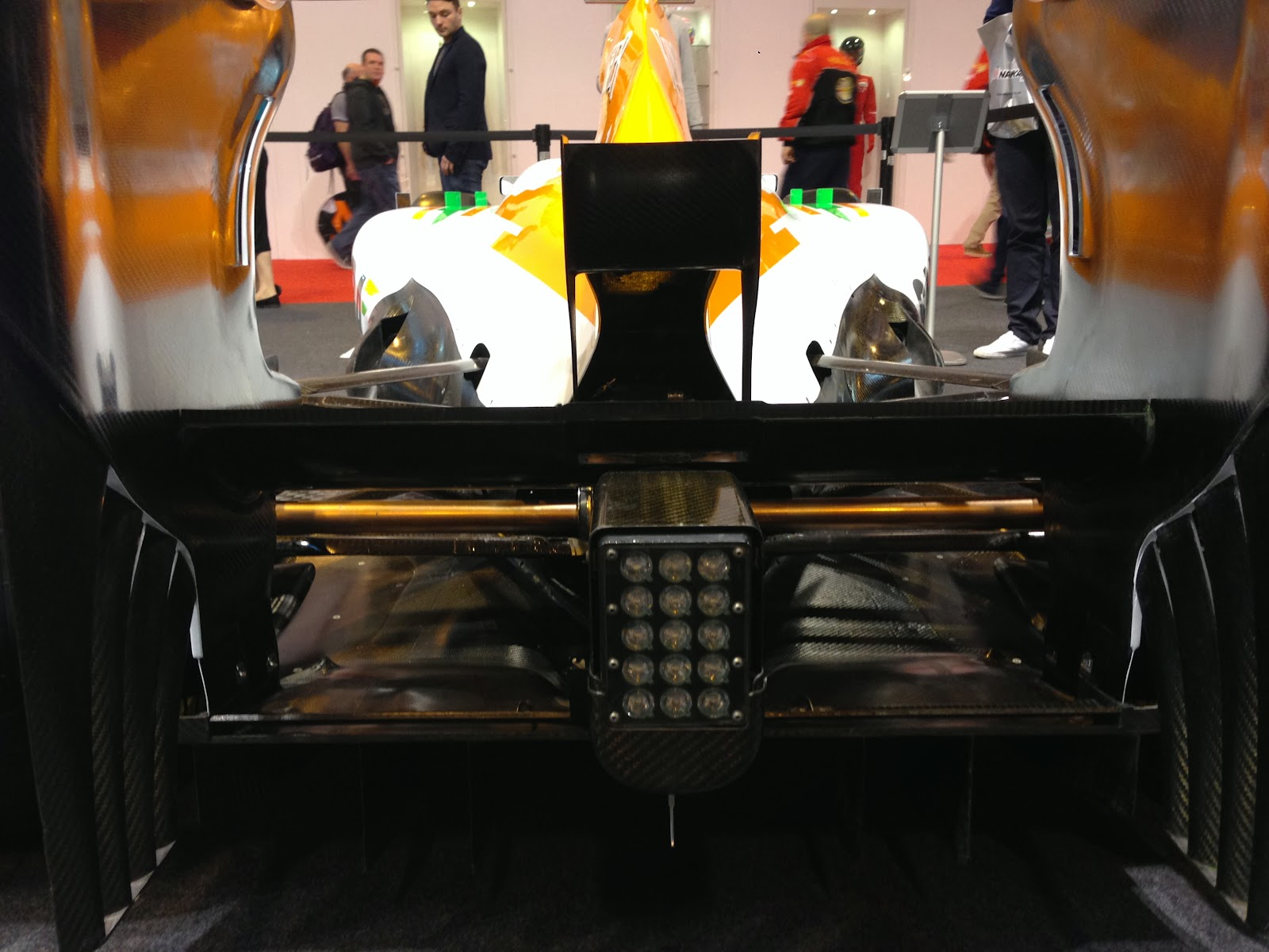 Force India F1 car rear end