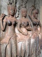 Female devatas - Angkor Wat