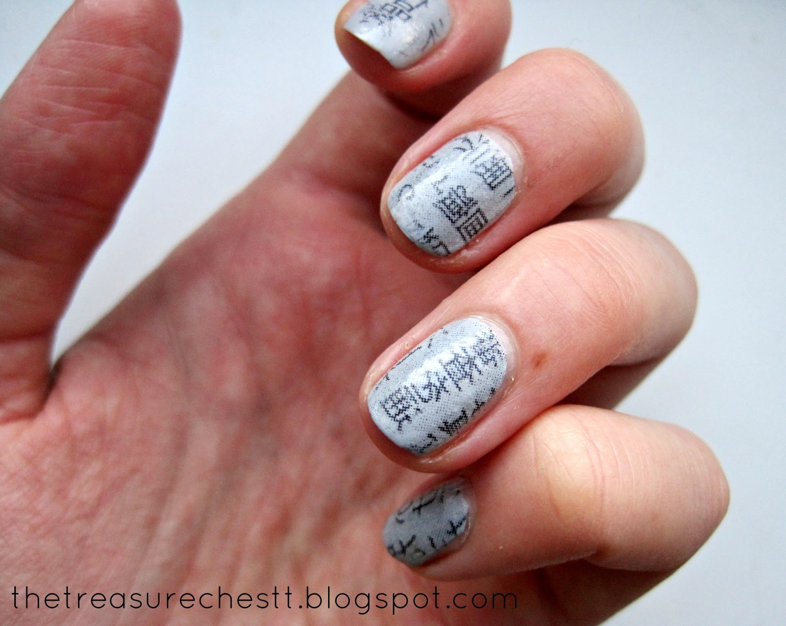 The Treasure Chest: Japanese Newspaper Nails