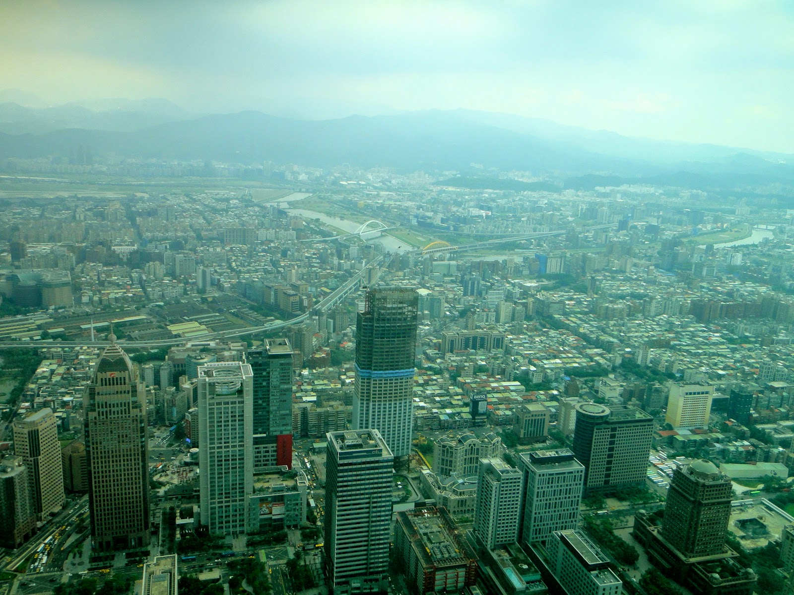 Mountain View from Taipei 101 Taiwan