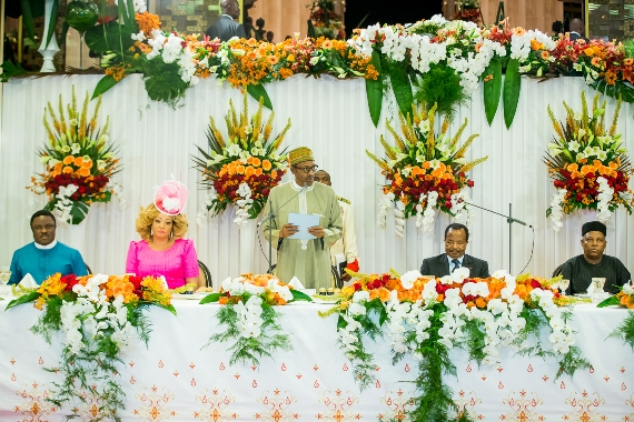 Photos Of Buhari at State Dinner in Yaounde