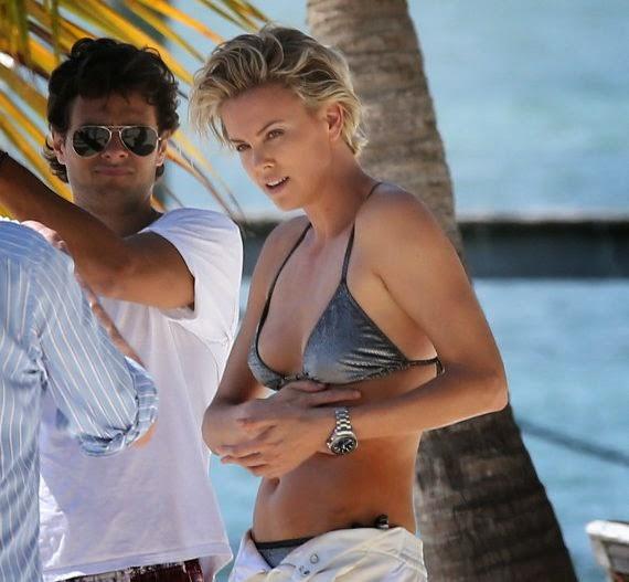 Charlize Theron's Nine different Bikinis for Mario Testino in Miami