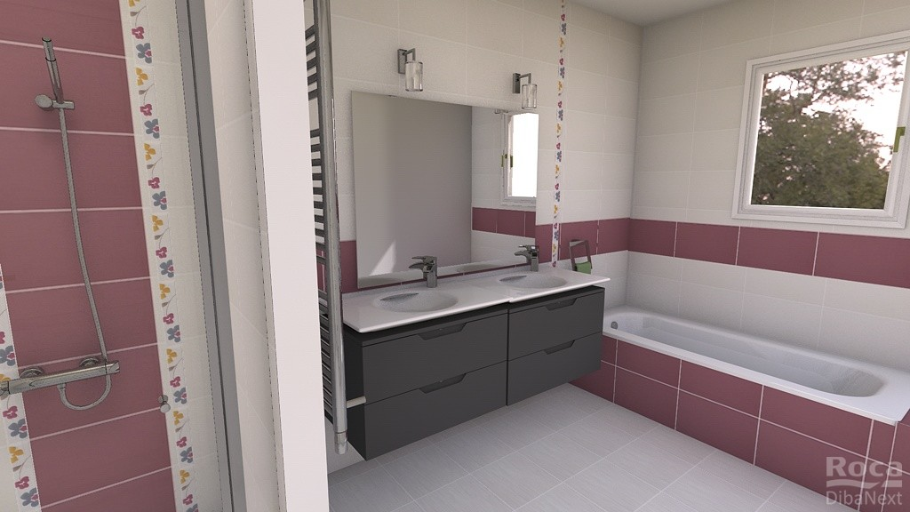 Eaunes sweet home notre maison sur eaunes 31 avec vmf for Conception salle de bain 3d mac