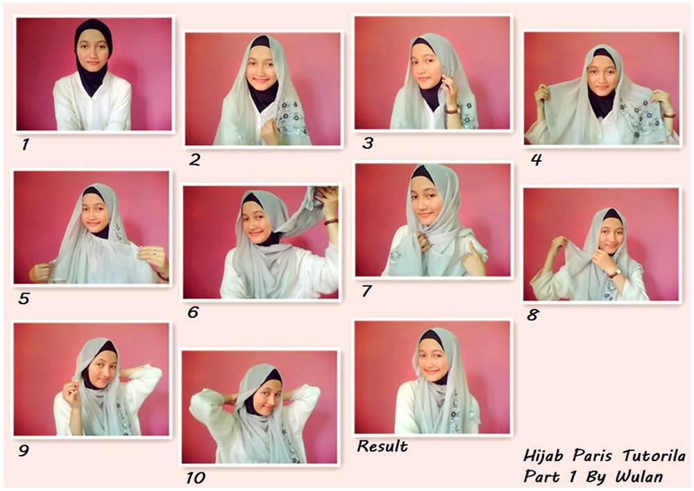Hijab Paris Tutorial Part 1 By Wulan