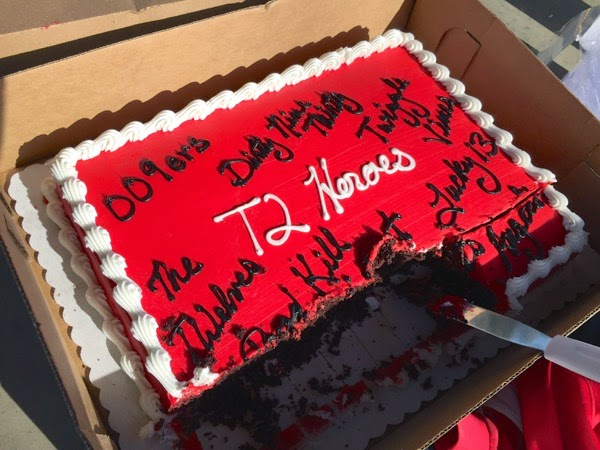 LA Marathon training T2 Heroes cake